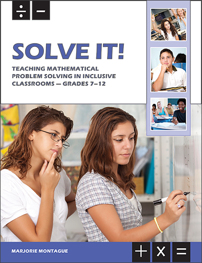 book cover solve it! teaching mathematical problem solving